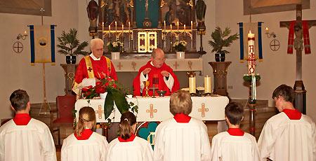 Pfarrer Sander u. Diakon Wienold, Pfingsten 2010