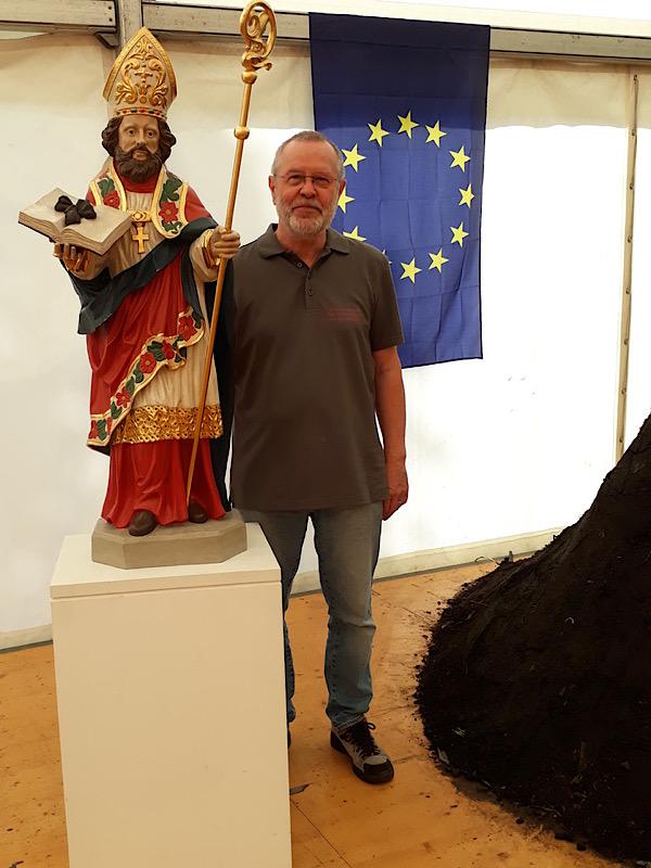 Unser St. Alexander mit Karl Josef Tielke und einem Meiler