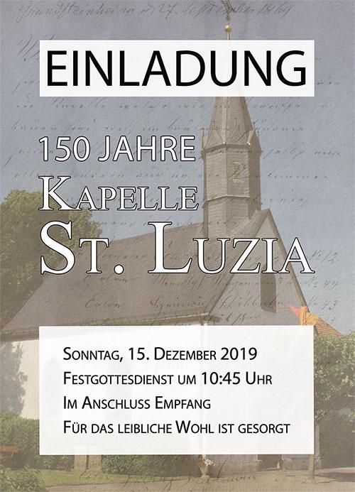 Plakat zum Kapellenjubiläum