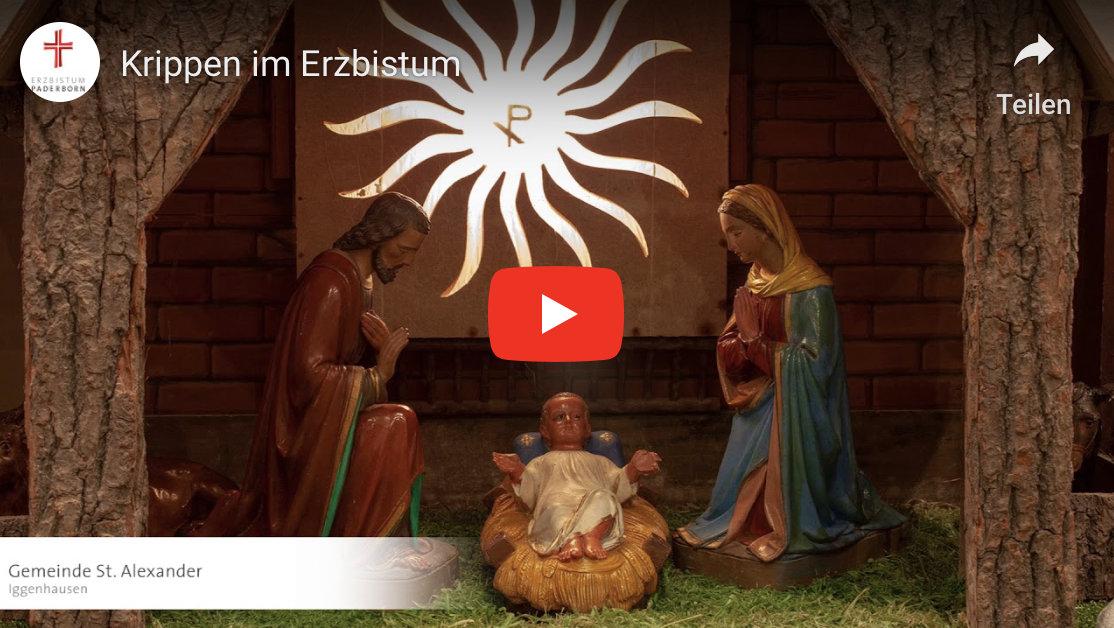 Iggenhausener Krippe im Video des Erzbistums. Foto: Erzbistum Paderborn bzw. Christian Hölscher.