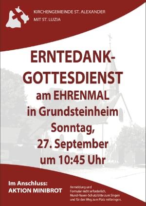 Plakat zum Gottesdienst (anklicken für Großansicht)